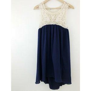Chelsea & Violet Crochet Lace Gauze Swing Dress
